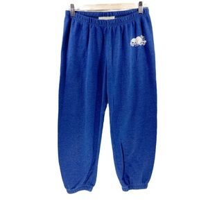 Roots Blue Sweatpants Trackpants Joggers S Crops